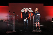 "Chairman of FX Network and FX Productions John Landgraf and Chairman of Disney Television Studios and ABC Entertainment Dana Walden speak during FX's ""American Horror Story"" 100th Episode Celebration at Hollywood Forever on October 26, 2019 in Hollywood, California."