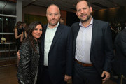 (L-R) Pamela Adlon, Louis C.K. and FX president of original programming Nick Grad attend FX Networks celebration of their Emmy nominees in partnership with Vanity Fair at Craft on September 16, 2017 in Century City, California.