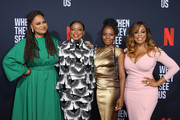 (L-R) Filmmaker Ava DuVernay and actors Aunjanue Ellis, Marsha Stephanie Blake and Niecy Nash attend FYC Event For Netflix's 'When They See Us' at Paramount Theater on the Paramount Studios lot on August 11, 2019 in Hollywood, California.