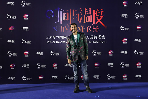 2019 China Open - Day 2 [carpet,font,talent show,flooring,performance,fabio fognini,china open,reception,beijing olympic tower,italy,china]