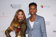 """La Toya Jackson (L) and Jaafar Jackson arrive for the Face Forward International 10th Annual Gala """"Highlands To The Hills"""" on September 14, 2019 in Los Angeles, California."""