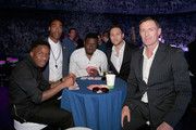 Tinchy Stryder, Simon Webbe, guest, Anthony Costa and Chris Sutton at the inaugural Facebook Football Awards on May 26, 2015 in London, England.