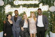 "(L-R) Actors Kelly Marie Tran, Jovan Adepo, Executive Producer/Creator Kit Steinkellner, actors Elizabeth Olsen, and Mamoudou Athie attend the Facebook Watch ""Sorry For Your Loss"" S2 Premiere at NeueHouse Hollywood on October 1, 2019 in Los Angeles, California."