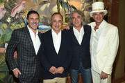 (L-R) President and CEO of Andre Balazs Properties Andre Balazs, Business/Art Collector Len Blavatnik, Mitch Glazer and Hotelier and Real Estate Developer Alan Faena attend the Feana Hotel Miami Beach Opening Celebration at Faena Hotel on December 1, 2015 in Miami Beach, Florida.