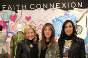 """(L-R) Nancy Cardone, Publisher Marie Claire, Nina Garcia, Creative Director Marie Claire and Maria Buccellati, President of Faith Connexion attend the """"Faith Connexion Street Art Tour"""" hosted by Saks Fifth Avenue and Marie Claire at Saks Fifth Avenue on March 12, 2015 in New York City."""
