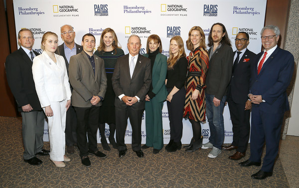 'Paris To Pittsburgh' Film Screening, Hosted By Bloomberg Philanthropies And National Geographic [social group,event,team,management,employment,businessperson,white-collar worker,company,job,tourism,dan lutat,michael bloomberg,faith lutat,l-r,paris,pittsburgh,national geographic,bloomberg philanthropies,film screening,film screening]