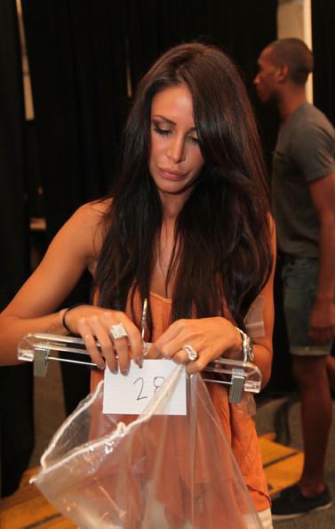 Jennifer stano in have faith swimwear backstage mbfw Jennifer stano