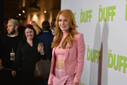 "Actress Bella Thorne attends a Fan Screening of CBS Films' ""The Duff"" at the TCL Chinese 6 Theatres on February 12, 2015 in Hollywood, California."