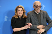 """(L-R) Catherine Deneuve and Andre Techine pose at the """"Farewell To The Night"""" (L'adieu a la nuit) photocall during the 69th Berlinale International Film Festival Berlin at Grand Hyatt Hotel on February 12, 2019 in Berlin, Germany."""