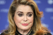 """Catherine Deneuve attends the """"Farewell To The Night"""" (L'adieu a la nuit) press conference during the 69th Berlinale International Film Festival Berlin at Grand Hyatt Hotel on February 12, 2019 in Berlin, Germany."""