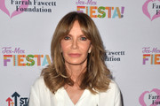 Jaclyn Smith arrives at The Farrah Fawcett Foundation's Tex-Mex Fiesta at Wallis Annenberg Center for the Performing Arts on September 06, 2019 in Beverly Hills, California.