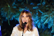 Jaclyn Smith speaks onstage during the Farrah Fawcett Foundation's Tex-Mex Fiesta on September 06, 2019 in Los Angeles, California.