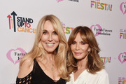Farrah Fawcett Foundation CEO Alana Stewart (L) and Jaclyn Smith attends the Farrah Fawcett Foundation's Tex-Mex Fiesta on September 06, 2019 in Los Angeles, California.
