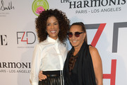 (L-R) Veronica Webb and Donna Karan attend Fashion 4 Development's 9th Annual Official First Ladies Luncheon at The Pierre Hotel on September 24, 2019 in New York City.