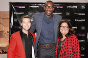 (L-R) Lance Bass, Amar'e Stoudemire and Fern Mallis attend Fashion's Night Out at Saks Fifth Avenue on September 6, 2012 in New York City.