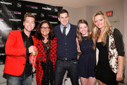 Lance Bass, Fern Mallis and fencers Tim Morehouse and Dagmara Wozniak (R) attend Fashion's Night Out at Saks Fifth Avenue on September 6, 2012 in New York City.