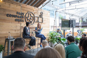 Stephanie Mehta, Editor-in-Chief, Fast Company (L) and Christina Tosi, Chef and Founder, Milk Bar attend the Fast Company Grill on March 09, 2019 in Austin, Texas.