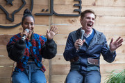 """Rozonda """"Chilli"""" Thomas, Singer-Songwriter, TLC (L) and Bill Diggins, Founder and CEO of Diggit Entertainment attend the Fast Company Grill on March 09, 2019 in Austin, Texas."""