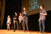 "Nat Wolff, Shailene Woodley, Ansel Elgort, and John Green attend ""The Fault In Our Stars"" Nashville red carpet and fan event with Shailene Woodley, Ansel Elgort, Nat Wolff and John Green at Nashville War Memorial Auditorium on May 8, 2014 in Nashville, Tennessee."