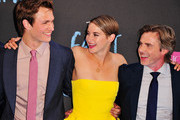 Actors Ansel Elgort, Shailene Woodley, and Sam Trammell attend 'The Fault In Our Stars' premiere at Ziegfeld Theater on June 2, 2014 in New York City.