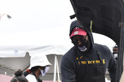 Rapper 2 Chainz delivers food packages during the Feed Your City Challenge on September 19, 2020 in Atlanta, Georgia. Feed Your City Challenge provided Atlanta's local community members with boxes of fresh groceries, PPE items, and voter registration stations.