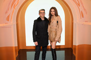 CEO of Fendi Serge Brunschwig and Zendaya attend The Launch of Solar Dream hosted by Fendi on February 05, 2020 in New York City.