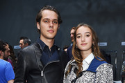 Ellar Coltrane and Leonetta Luciano Fendi attend the Fendi show during the Milan Men's Fashion Week Spring/Summer 2016 on June 22, 2015 in Milan, Italy.