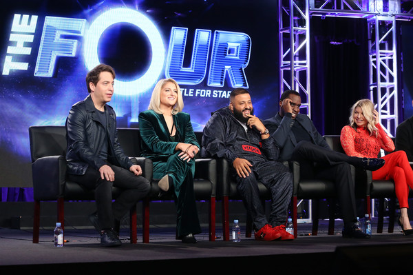 2018 Winter TCA Tour - Day 1 [the four,event,performance,television program,stage,media,convention,performing arts,fergie,panelists,charlie walk,meghan trainor,sean diddy combs,l-r,pasadena,winter tca,portion]