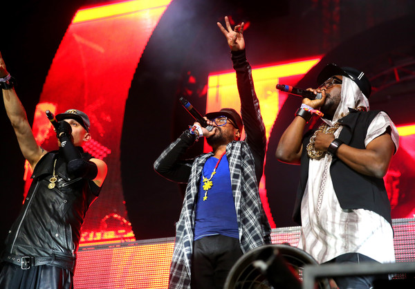 2015 Coachella Valley Music And Arts Festival - Weekend 1 - Day 3 [taboo,performance,entertainment,performing arts,music,event,concert,stage,singing,musician,music artist,artists,david guetta,will.i.am,l-r,empire polo club,indio,the black eyed peas,ap,coachella valley music and arts festival]