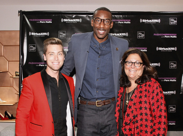 Fashion's Night Out At SAKS Fifth Avenue [red,event,premiere,eyewear,carpet,fern mallis,amare stoudemire,lance bass,l-r,saks fifth avenue,new york city,fashion,night out]