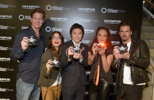 'Olympus OM-D: Photography Playground' Opening [event,liqueur,drink,distilled beverage,general manager,thomas heinze,milka loff fernades,akihiko murata,fernanda brandao,olympus om-d,l-r,olympus consumer products central europe,photography playground opening,opening]