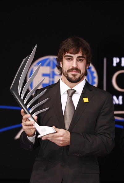 Fernando Alonso In this handout image provided by FIA (Federation Internationale de l'Automobile), FIA Formula One World Championship runner-up Fernando Alonso of Spain and Ferrari poses during the 2010 FIA Gala Prize Giving Ceremony on December 10, 2010 in Monaco.