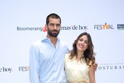 Spanish model and actor Ruben Cortada and Spanish actress Adriana Ugarte promote the 'El Tiempo Entre Costuras' new season during the day five of 5th FesTVal Television Festival 2013 at the Villa Suso Palace on September 6, 2013 in Vitoria-Gasteiz, Spain.