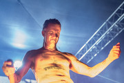 Ninja of Die Antwoord performs onstage during Festival Supreme 2015 at The Shrine Auditorium on October 10, 2015 in Los Angeles, California.