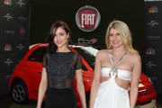 Model Natasha Prince (L) And Actress Meredith Ostrom attends Fiat's Into The Green at the 70th Annual Golden Globe Awards held at The Beverly Hilton Hotel on January 13, 2013 in Beverly Hills, California.
