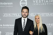 Matthew Rutler and singer Christina Aguilera attend the Fifth Annual Baby2Baby Gala, Presented By John Paul Mitchell Systems at 3LABS on November 12, 2016 in Culver City, California.