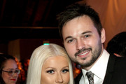 Recording artist Christina Aguilera (L) and Matthew Rutler attend the Fifth Annual Baby2Baby Gala, Presented By John Paul Mitchell Systems at 3LABS on November 12, 2016 in Culver City, California.