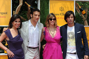 (L-R) President of Veuve Clicquot USA, Vanessa Kay, master of ceremonies, actor Clive Owen, Delfina Blaquier and polo player Nacho Figueras attends the fifth annual Veuve Clicquot Polo Classic on June 2, 2012 in Jersey City.
