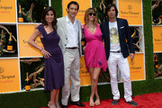 (L-R) President of Veuve Clicquot USA, Vanessa Kay, master of ceremonies, actor Clive Owen, Delfina Blaquier and polo player Nacho Figueras attend the fifth annual Veuve Clicquot Polo Classic on June 2, 2012 in Jersey City.
