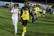 Santos enters the field in Series A Brasileirao 2014 at Cafe Stadium on May 11, 2014 in Londrina, Brazil.
