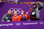 Aljona Savchenko and Bruno Massot of Germany react after competing during the Pair Skating Free Skating at Gangneung Ice Arena on February 15, 2018 in Gangneung, South Korea.