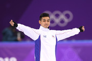 Michael Christian Martinez of the Philippines warms up before the Men's Single Skating Short Program at Gangneung Ice Arena on February 16, 2018 in Gangneung, South Korea.