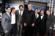 "(L-R) Actors Adam Rodriguez, Alex Pettyfer, Joe Manganiello, Kevin Nash, Matt Bomer, Matthew McConaughey, and Channing Tatum arrive at the premiere of Warner Bros. Pictures' ""Magic Mike"" during the 2012 Los Angeles Film Festival at Regal Cinemas L.A. Live on June 24, 2012 in Los Angeles, California."