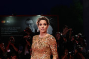 Laura Chiatti walks the Filming In Italy red carpet during the 76th Venice Film Festival at Sala Grande on September 01, 2019 in Venice, Italy.
