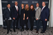 (L-R) Rumble founder Eugene Remm, Juice Press chairman Michael Karsch, Marcia Kilgore founder of Bliss Spa, Soap & Glory and FitFlop, Mindy Grossman President and CEO at Weight Watchers, Kara Goldin CEO of  Hint Water, Strand Conover, and Financo CEO John Berg attend the Financo CEO Forum on January 15, 2018 in New York City.