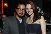 """Writer/Director Dennis Lee and Shannon Lucio attend the """"Fireflies In The Garden"""" Premiere after party at The Whisper Lounge on October 12, 2011 in Los Angeles, California."""