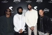 Football star Todd Gurley, First Entertainment CMO Amondo Redmond, Lakers star Anthony Davis and TV personality Terrence J attend the First Entertainment x Los Angeles Lakers and Anthony Davis Partnership Launch Event at The Theatre at Ace Hotel on March 4, 2020 in Los Angeles, California.