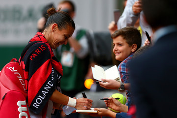 Flavia Pennetta 2015 French Open - Day Six