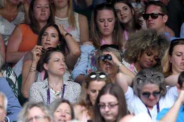 Fleur East The Evian Live Young Suite on Day 8 of the Championships at Wimbledon 2017