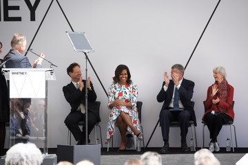 Flora Miller Biddle Michelle Obama Attends Dedication Ceremony For New Whitney Museum